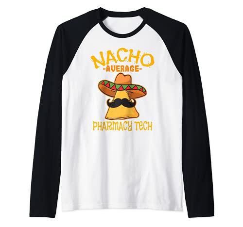 Nacho Farmacia Media Farmacéutico Cinco de Mayo Camiseta Manga Raglan