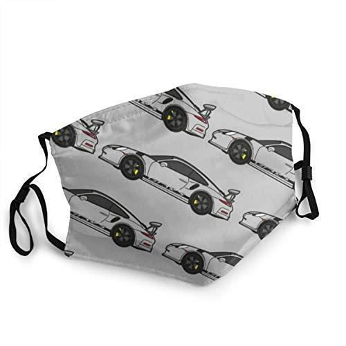 Porsche-Driver-Gesichtsmaske, wiederverwendbar, aus Stoff, waschbar, Bandana Gesichtsmaske, Sonnenstaubschutz, Sturmhaube, Schal für Angeln, Radfahren