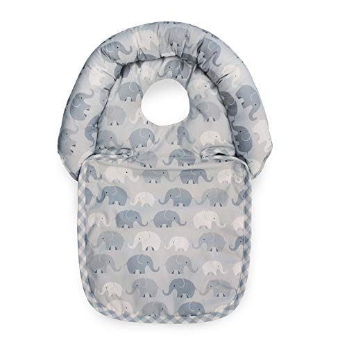 Buy Boppy Noggin Nest Head Support for Infants, Gray Elephant Plaid