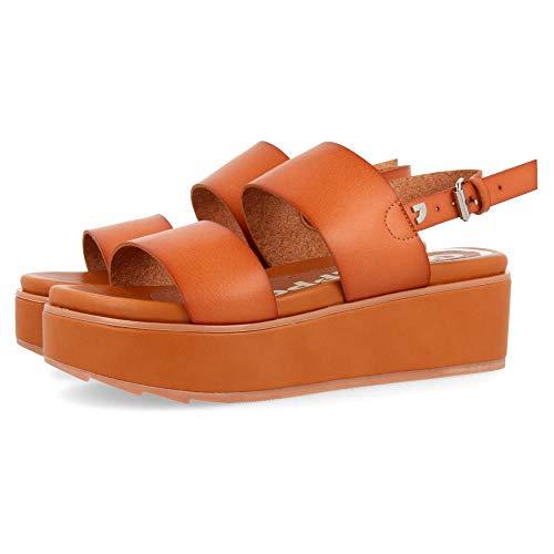 Gioseppo Candor, Zapatos con Plataforma Mujer, Marrón (Cuero Cuero), 39 EU