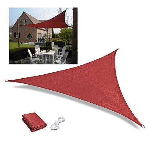 Logo Filet De Camouflage,Taux D'ombrage 95% Isolation Thermique À Toute Épreuve Triangle Crème Solaire Respirant Anti-UV Patio Balcon Toit, 2 Couleurs GGYMEI (Color : Red, Size : 3.6x3.6x5.1m)
