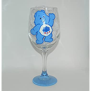 Grumpy Bear wine glass