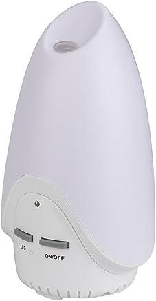 Sheremi 卓上加湿器 200ml容量 ミニ 超音波式 空気清浄機 除菌 静音 LEDライト アロマディフューザー 寝室 各場所用 室内乾燥対応 空焚き防止 (173X173X85mm, ホワイト)