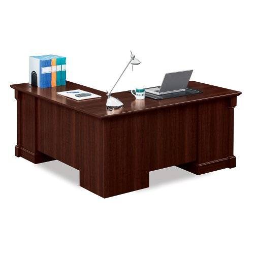 Sauder Office Furniture Palladia Collection Cherry Finish L-Shaped Desk with Right Return