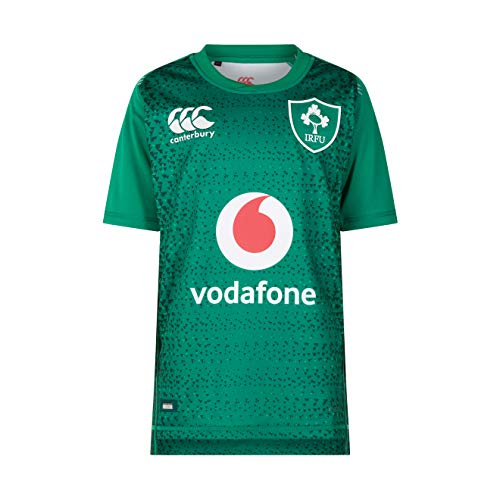 Canterbury Unisex Kinder Rugby-Trikot Irland 18/19 Home Pro M Bosporus