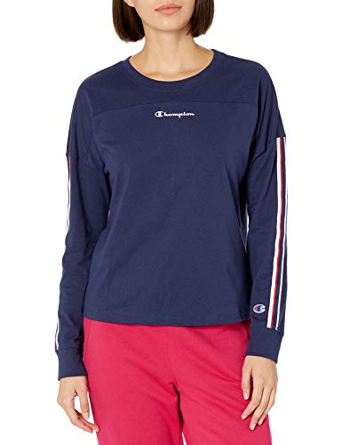 Champion Women's T-Shirt, Athletic Navy, Small