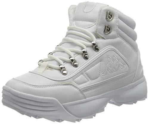 Kappa Shivoo Ice Hi, Zapatillas Mujer, 1010 White, 36 EU