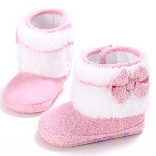 ZHOUBA, Scarpe primi passi bambine rosa Pink 0 - 6 mesi