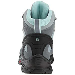 Salomon Women's Quest Prime GTX W Backpacking, Lead/Stormy Weather/Eggshell Blue, 8.5