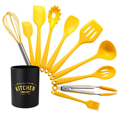 Kitchen Utensil Set 10-piece Non-stick Silicone Cookware, Suitable for Cooking, Cooking, Western Cooking