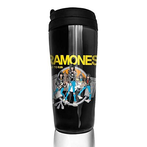 Qurbet Tazza da Viaggio da caffè, Insulated Bottiglia d'Acqua, Ramones, Decaf Mountain Outdoor Coffee Mug Carry Hand Cup for Kids Teens Adults