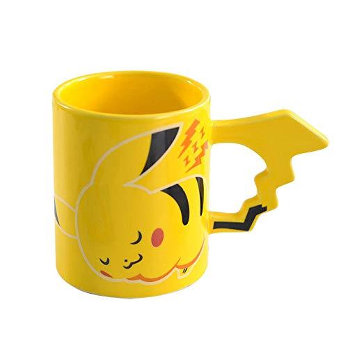 LDJING Taza Pokémon Pikachu Cartoon Cute Cup 3D Anime Drinking Cup Regalo De Cumpleaños-370Ml