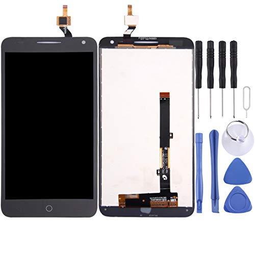 Parte de reemplazo para teléfonos móviles For Alcatel One Touch Pop 3 5.5/5025 Pantalla LCD Ensamblaje de Pantalla táctil digitalizador Parte de reemplazo de teléfono Celular (Color : Black)
