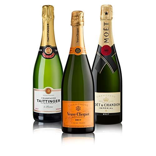 "Probierpaket ""Champagner 3er""| Champagnerpaket mit drei verschiedenen Champagner (3 x 0,75 l) | Ideales Champagner Tasting-Set"
