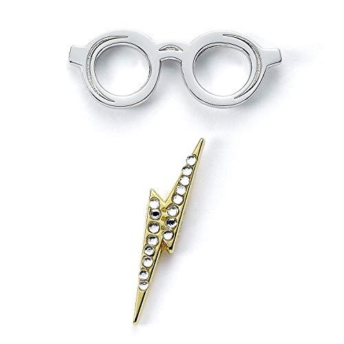 The Carat Shop - Spilla ufficiale con occhiali e fulmine di Harry Potter
