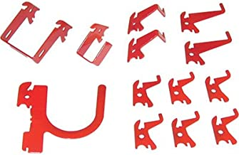 product image for Wall Control Slotted Pegboard Industrial Hook Assortment Kit - 13-Pc. Red, Model Number 35-K-BASRD