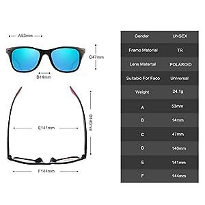 SUNMEET Gafas de Sol Polarizadas Hombre Mujere para Conducir Deportes100% Protección UV400 Gafas para Conducción(Azul/Negro)