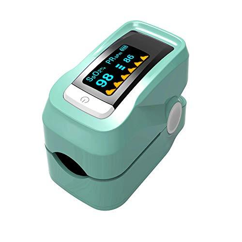 DINGQING Startseite Spo2-Monitor, Finger-Pulsoximeter, Finger Clip-Pulsoximeter, Puls Finger-Pulsoximeter Medical Start, Multiple Color,Grün