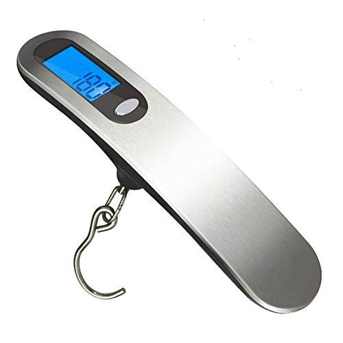 Bilancia Pesapersone Digitale 50Kg X 10G Bilancia Elettronica Portatile Bilancia Pesapersone Valigia Da Viaggio Con Gancio Appendiabiti 3