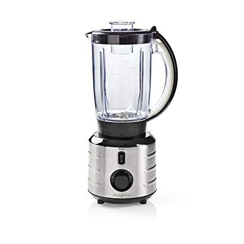 Nedis - Blender - 500 W - 1,5 L - Voor smoothies en soepen - 3 Standen - Pulseerstand - Anti-Slip Feet - Roestvrij Staal