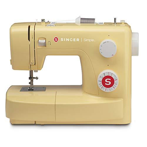 SINGER 230129140 Simple 3223Y Nähmaschine, 18/10 Stahl, lemontree