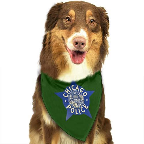 HJKH PJKL Chicago Police Logo Pet Dog Puppy Cat Triangle Bibs Scarf Bandana Collar Neckerchief Mchoice - Any Pets
