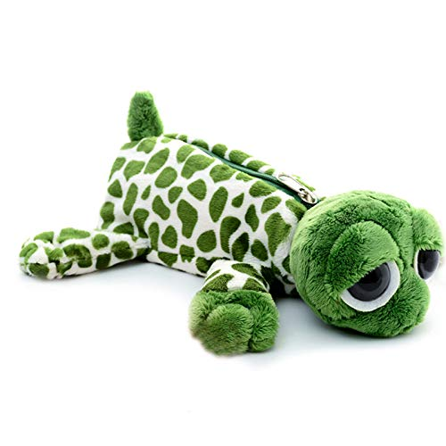 SweetGifts Plush Turtle Holder Bags Animal Case Stationery Pouch Storage Comestic Makeup Bag Green 10'