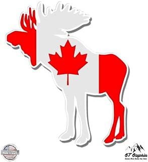 GT Graphics Moose Canada Flag - Vinyl Sticker Waterproof Decal