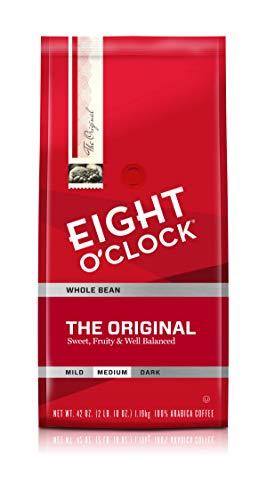 Eight O'Clock Coffee Whole Bean, The Original, 42 Ounce