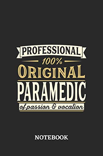Professional Original Paramedic Notebook of Passion and Vocation: 6x9 inches - 110 graph paper, quad ruled, squared, grid paper pages • Perfect Office Job Utility • Gift, Present Idea