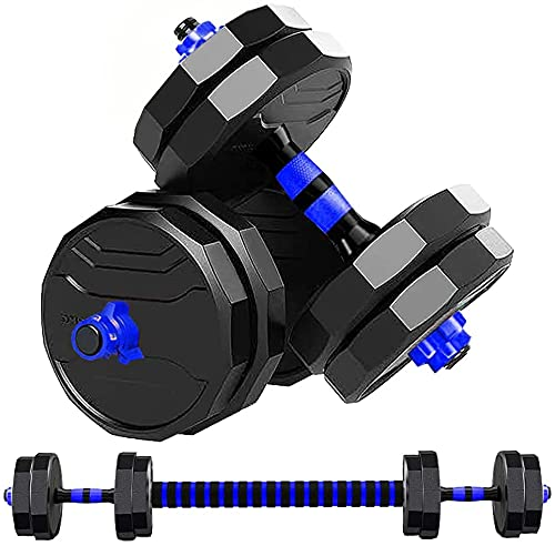 ダンベル 可変式 12角形構造 XF【最新進化版】AnYoker 5kg×2個セット (10kg)/10kg×2個セット (20kg)/15kg×2個セット (30kg)/20kg×2個セット (40kg) ポリエチレン製 筋力トレーニング ダイエット シ