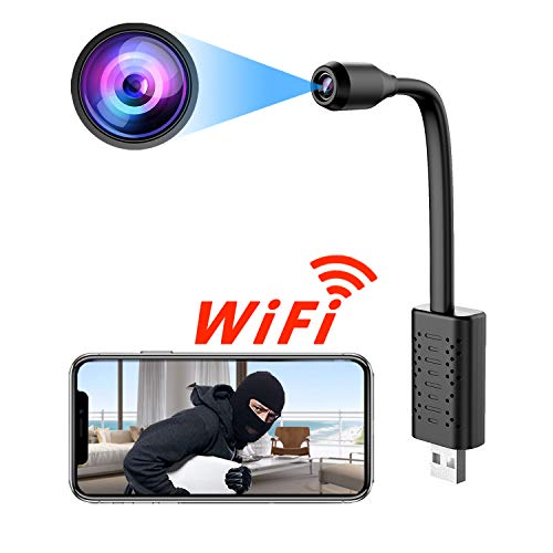 Spy Camera Wireless Hidden WiFi Camera with Remote Viewing, USB Port Camera/Nanny Cam/Security Camera Indoor Video Recorder Motion Activated, Support iOS/Android