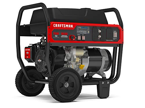 Craftsman 7000W Portable Generator with CO Detection, Powered by Briggs & Stratton, 030734