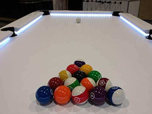 White LED Pool Table Light - Bumper Light KIT - - Model #PER678FTPRO Works with 6ft - 9ft Billiards Table