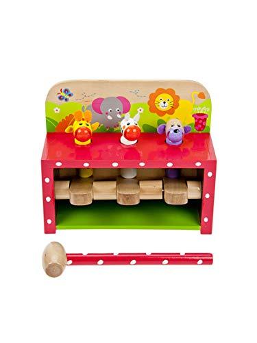 Mousehouse Gifts Juguete de Madera con Figuras de Animales saltadores y Martillo para niños y niñas