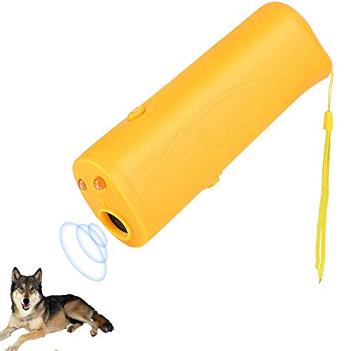 Shhjjpy LED Ultraschall Hunde Repeller Und Trainer Gerät 3 in 1 Anti Bellen Stop Rinde Handheld Hunde Trainingsgerät