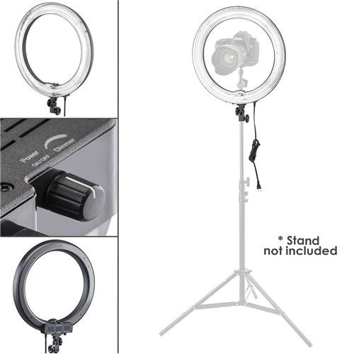 Flashpoint 13' Vlogger Light AC Powered 50W 5500K Fluorescent Ring Light with Bag