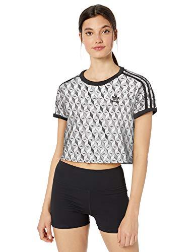 adidas Originals - Camiseta de 3 rayas para mujer