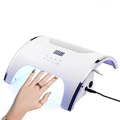2 En 1 Intelligente Machine à Ongles, UV Nail Light, 80W SéChage Rapide SèChe-Ongles, Extracteur De PoussièRe D'Ongle, Puissant Aspirateur à Ongles (110-220V)