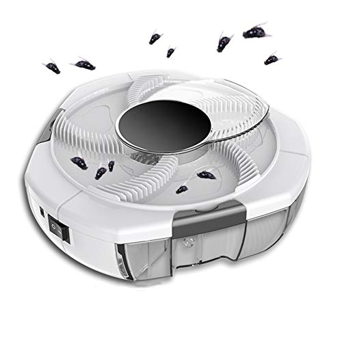 YANLEI Elektrische Fliegenklatsche Mit Klappbarem Griff, Elektrische Insektenvernichter, USB Angetrieben Mosquito Killer Stummschaltung Mückenkiller/white