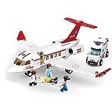 UNU_YAN Modern Simplicity Technic 335pcs Plano de Ambulancia y Ambulancia Bloques de construcción de automóviles Modelo, Ambulancia Rescue Avión de avión Juguetes