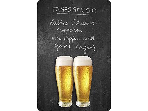 Unbekannt Tagesgericht Bier Blechschild Gewölbt 20x30cm VS4955-1