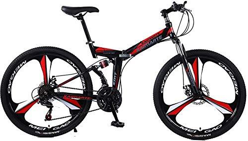 Bicicleta Plegable Bicicleta de montaña 24 y 26 Pulgadas Cuchillo Alto Acero de Carbono Doble Discecto Freno Adulto Ejercicio Montaña Bicicleta-Enlaces_26Inch21speed
