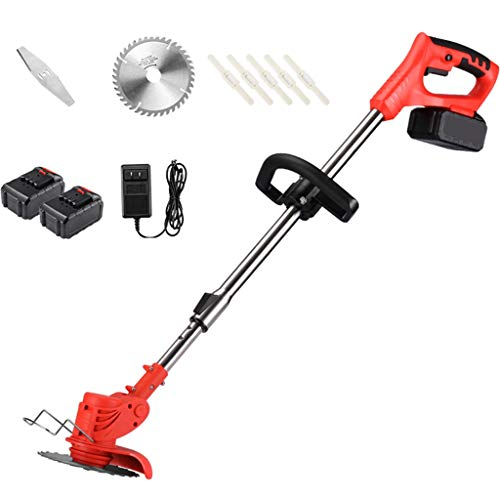 Priority Culture Grass Trimmer String Trimmer,Small Household Lawn Mower, Electric Lawn Mower, The Best Assistant for Gardens and Farms, with Plastic Blade, Lithium Battery and Charger