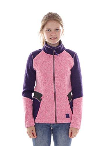 O`Neill Fleecejacke Funktionsjacke Button Up rosa Colorblock Strick (152)