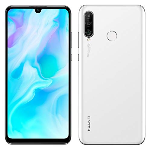 Huawei P30 Lite 128GB Hybrid Dual Sim Unlocked GSM Phone w/Triple (24 MP + 8 MP + 2 MP) Camera - Pearl White