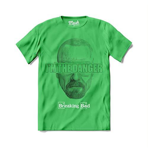 T-Shirt I'm The Danger Breaking Bad Heisenberg Uomo - TV Series Netflix - Maglietta a Manica Corta 100% Cotone Organico - S
