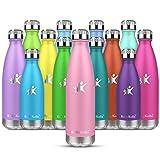 KollyKolla Botella de Agua Acero Inoxidable, Termo Sin BPA Ecológica, Botellas Termica Reutilizable Frascos Térmicos para Niños & Adultos, Deporte, Oficina, Yoga, Ciclismo, (750ml Rosado)