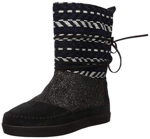 TOMS Damen Nepal modischer Stiefel, Schwarzes Wildleder/Textil-Mix, 35.5 EU