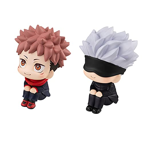 Figure Cute Cartoon Anime Figure Toys with Sitting Posture Model Toy PVC Car Decoration Collectible Gift 3.55inchGo3